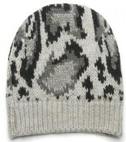 Stella McCartnley leopard knit hat 275