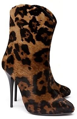 Giuseppe zanotti leopard haircalf boots 1075