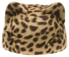 Marie mercie felted cat hat in leopard print