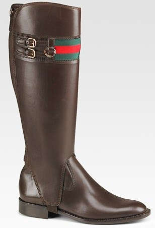 Gucci detachable riding boot side view